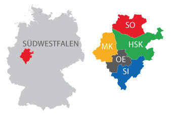 The region of South Westphalia
